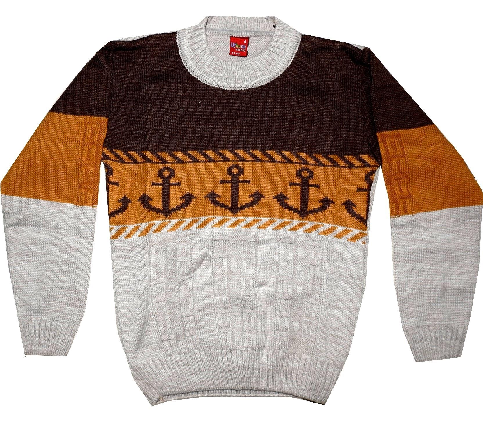 SHIP ANCHOR WEAVING DESIGN SWEATER FOR BOY (5-7-9 AGE)