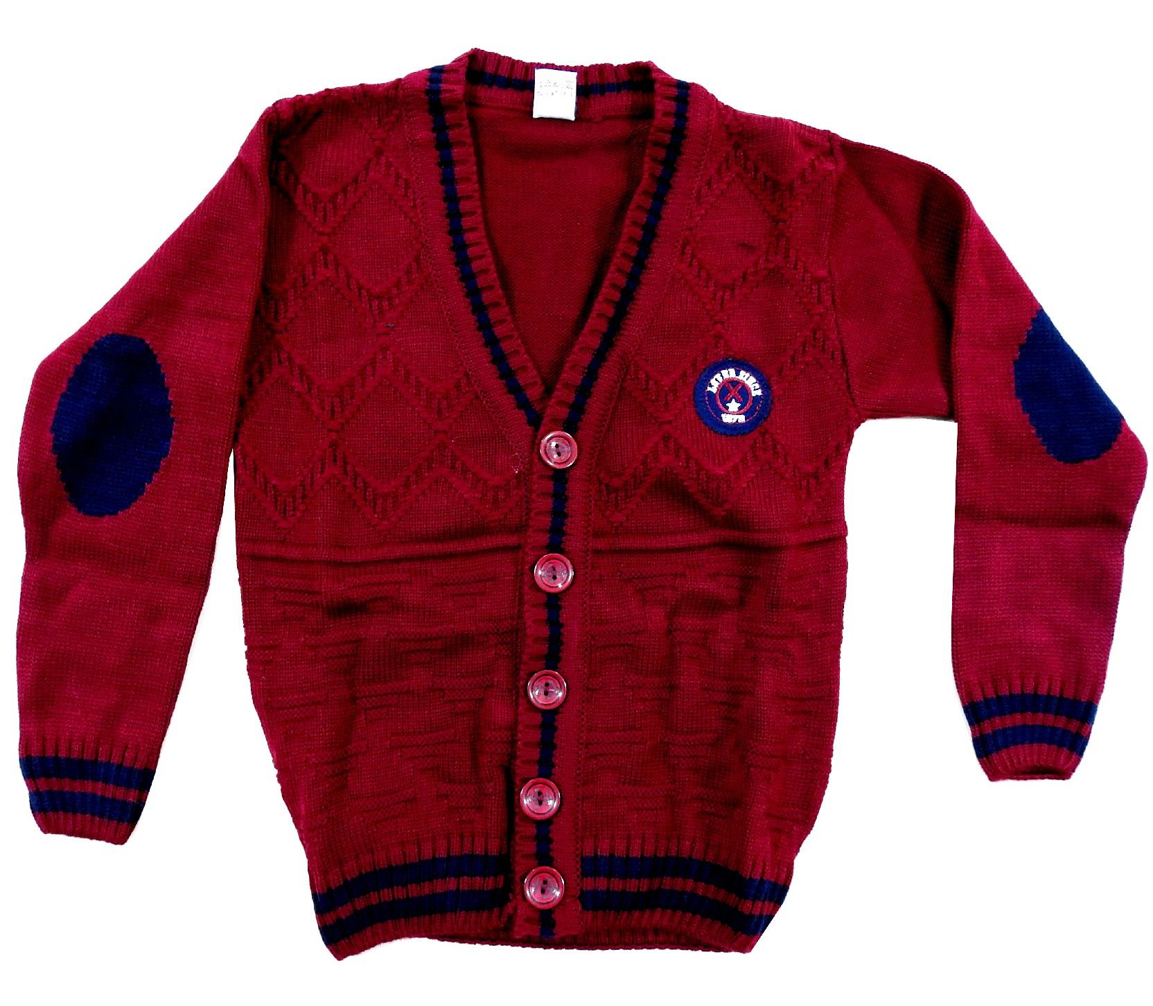 PULLOVER WITH BUTTON FASTENING FOR BOY (5-7-9 AGE)