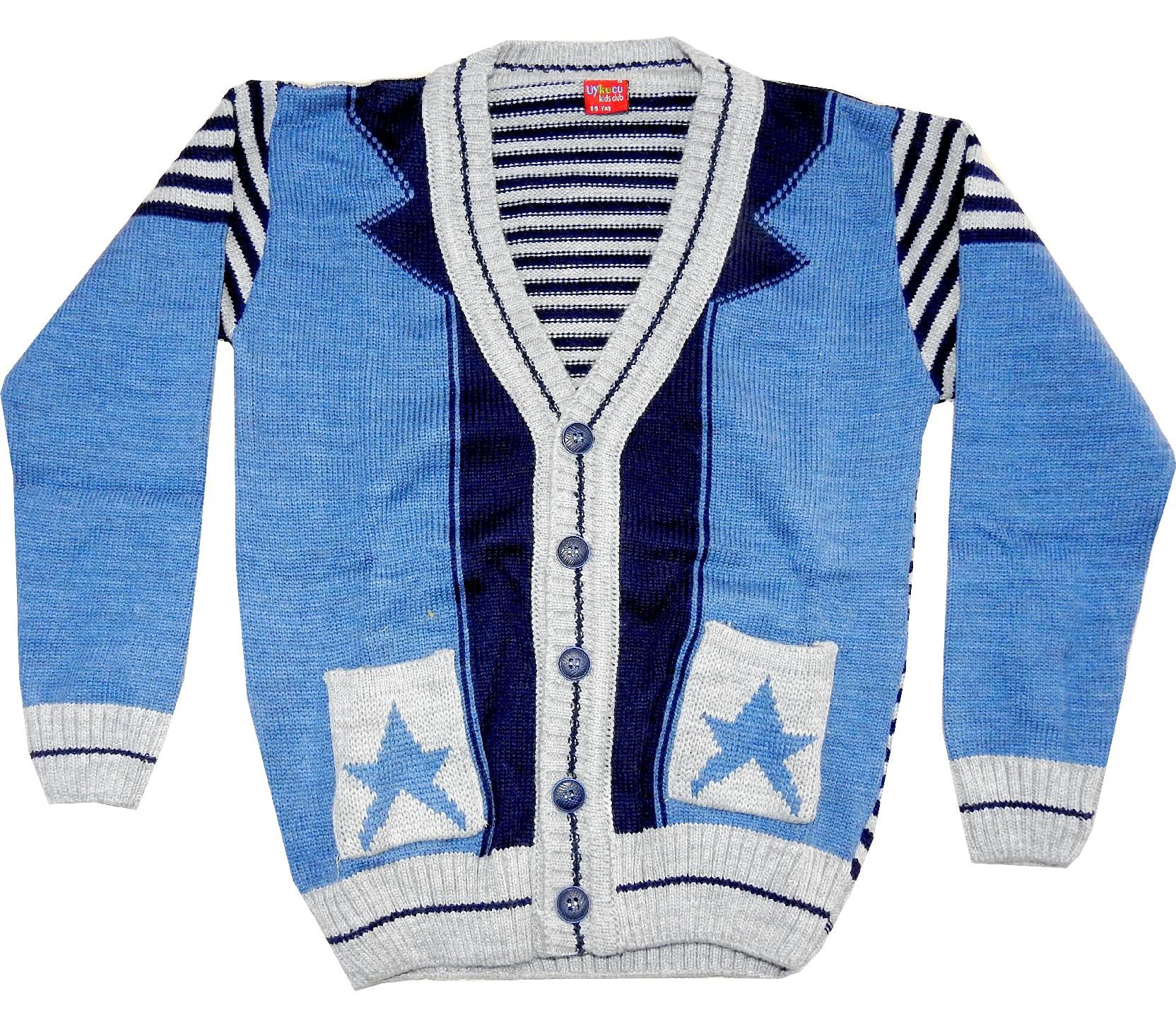WHOLESALE STAR PRINTED CARDIGAN FOR BOY (5-7-9 AGE)