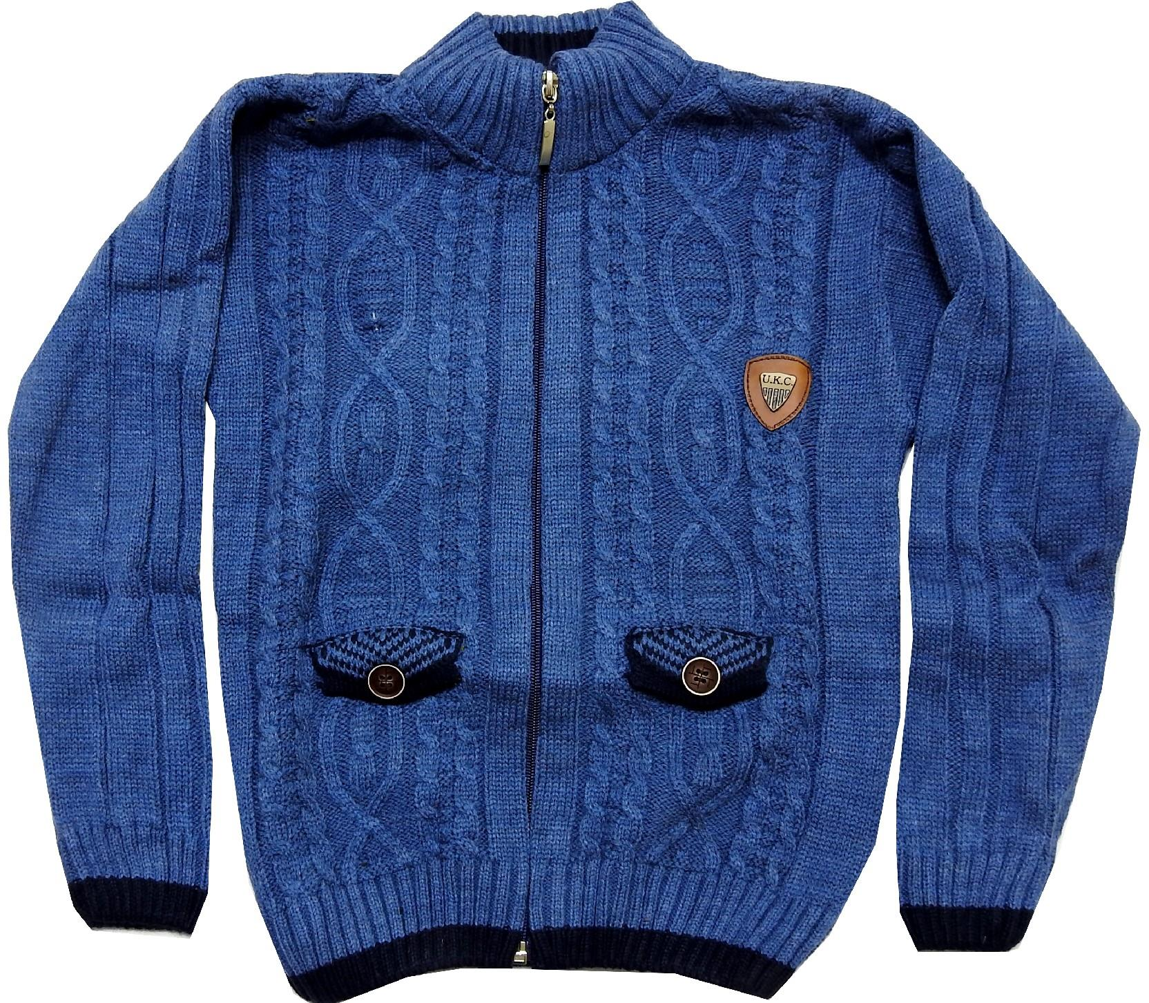 159 Wholesale knitted design cardigan jacket for boy (5-7-9 age)