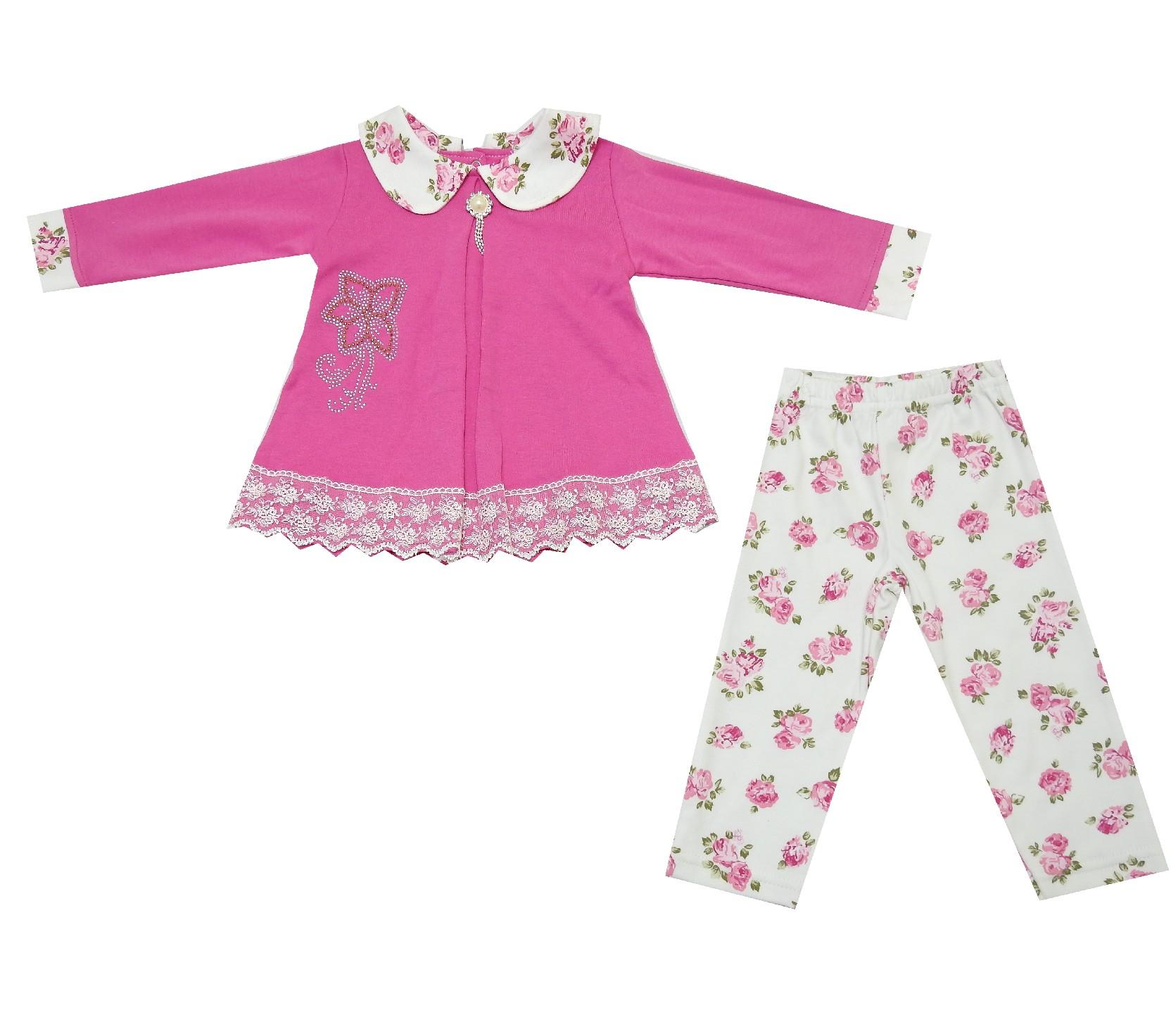 FLOWER PRINT DOUBLE SET FOR GIRL (9-12-18 MONTH)