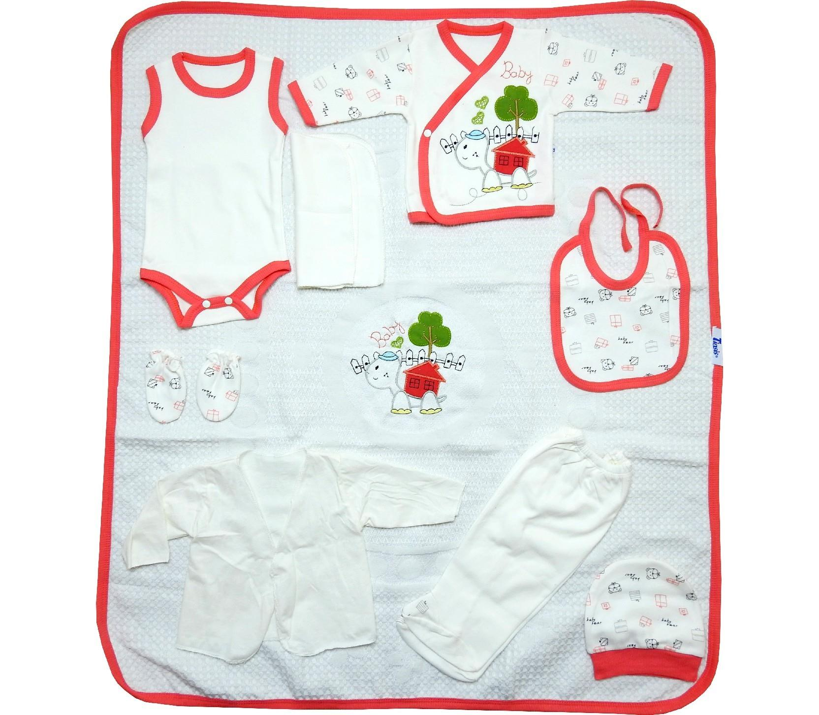 Wholesale printed design newborn set, 10 pieces in package