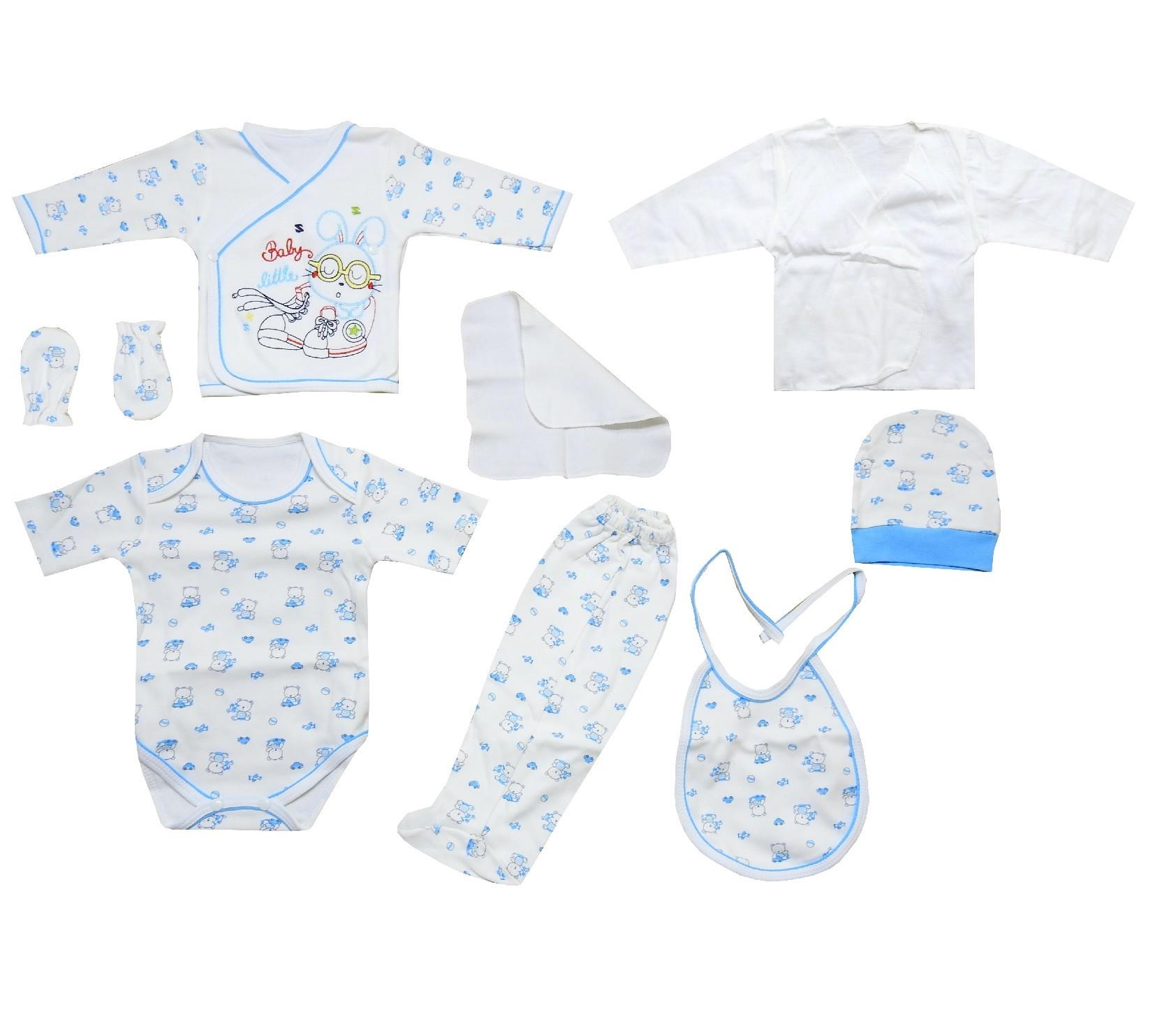 Wholesale rabbit print newborn set, 8 pieces in package
