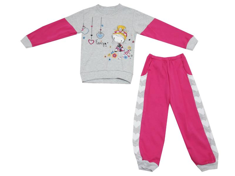 GIRL PRINTED DOUBLE SET FOR GIRL (2-3-4 AGE)