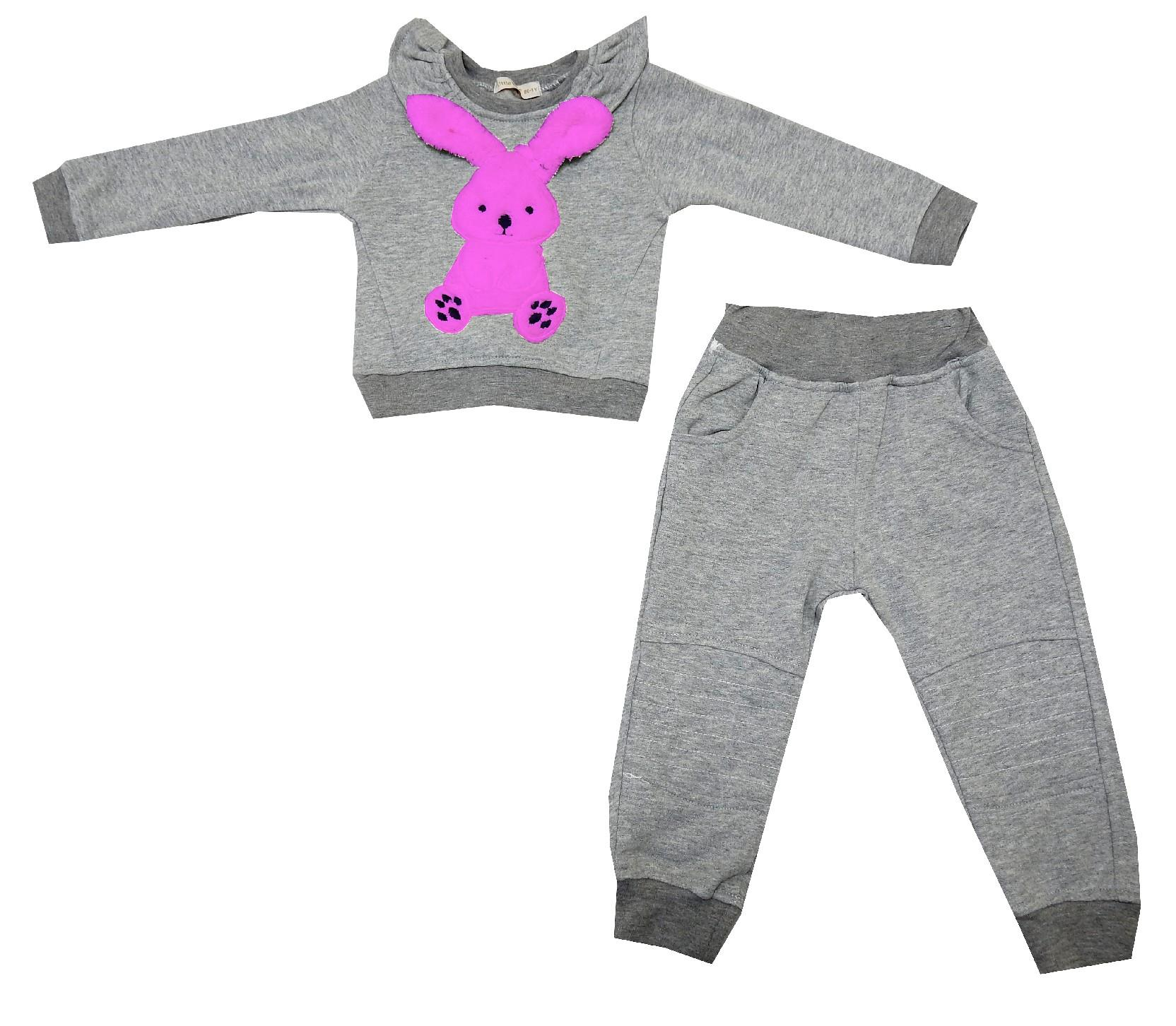 BUNNY ORNAMENTALY DOUBLE SET FOR GIRL (1-2-3-4 AGE)