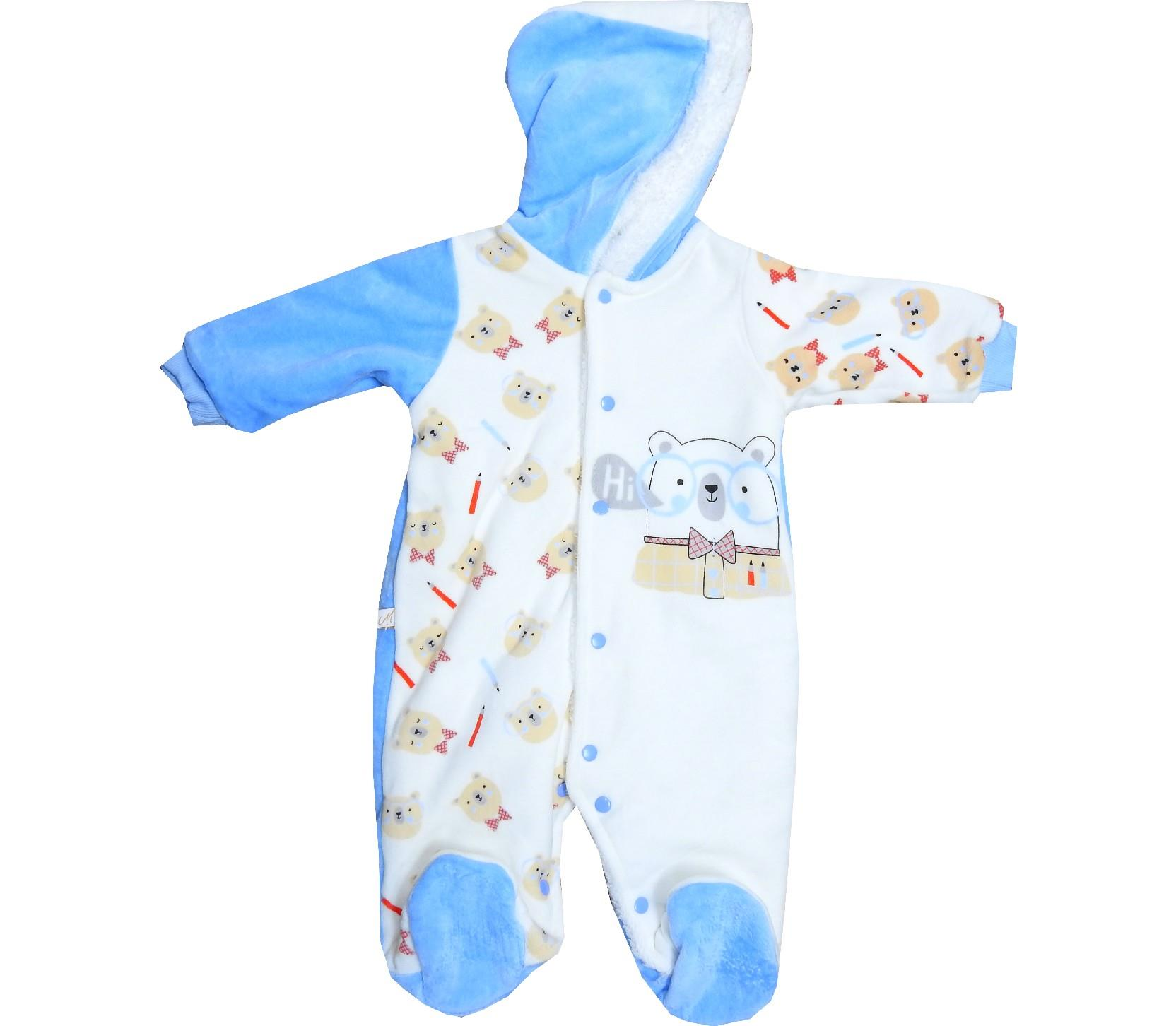 BEAR EMBROIDERED ROMPER FOR BOY (3-6-9 MONTH)