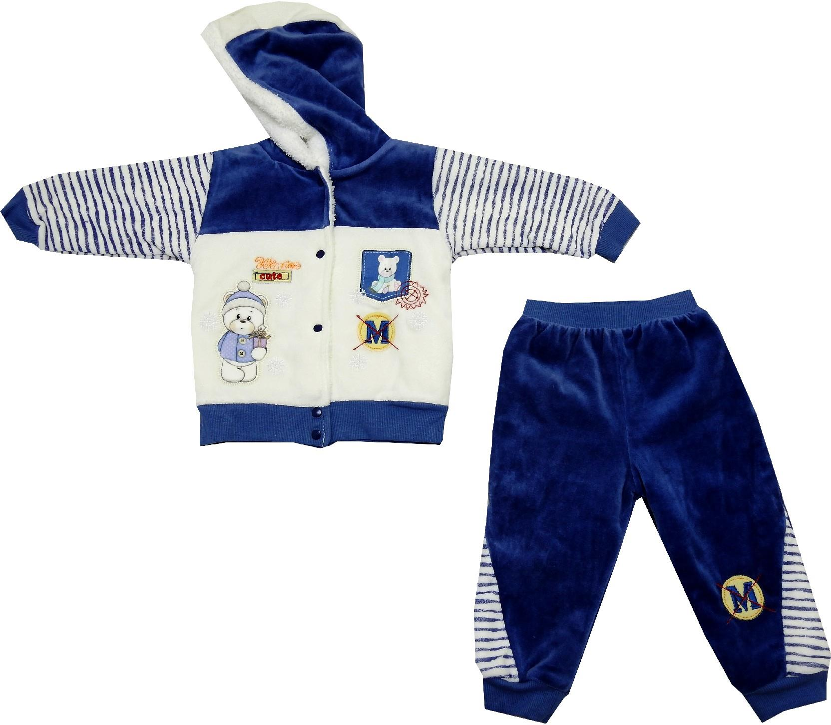 BEAR PRINTED DOUBLE SET FOR BOY (6-9-12 MONTH)
