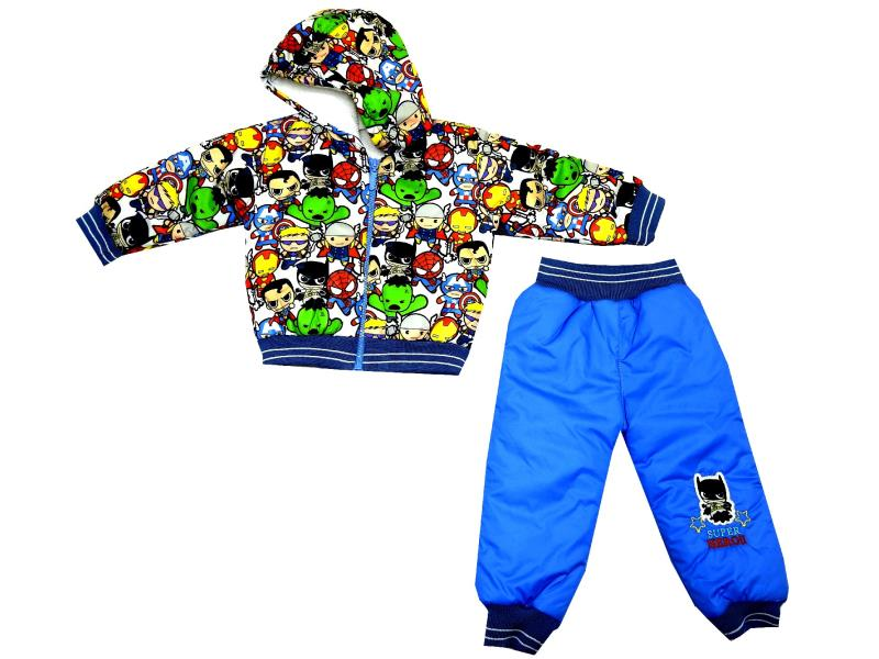 TEAM OF SUPER HERO PRINTED DOUBLE SET FOR BOY (6-9-12 MONTH)