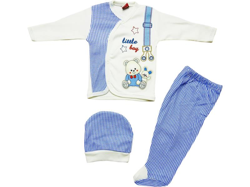 20061 Wholesale bear printed newborn set (0-3 month)