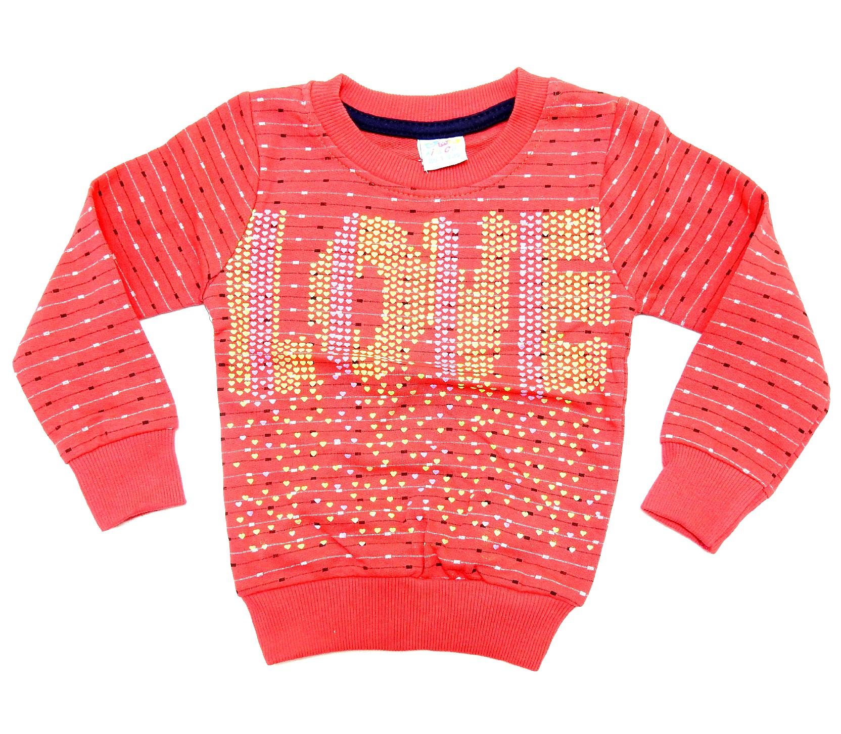WHOLESALE YOU ARE SO LOVED PRINTED SWEATER FOR GIRL (1-2-3-4-5 AGE)