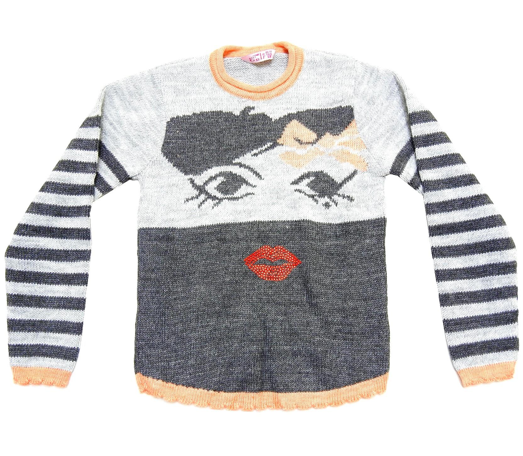 WHOLESALE GIRL PRINTED DESIGN SWEATER FOR GIRL (10-12-14 AGE)