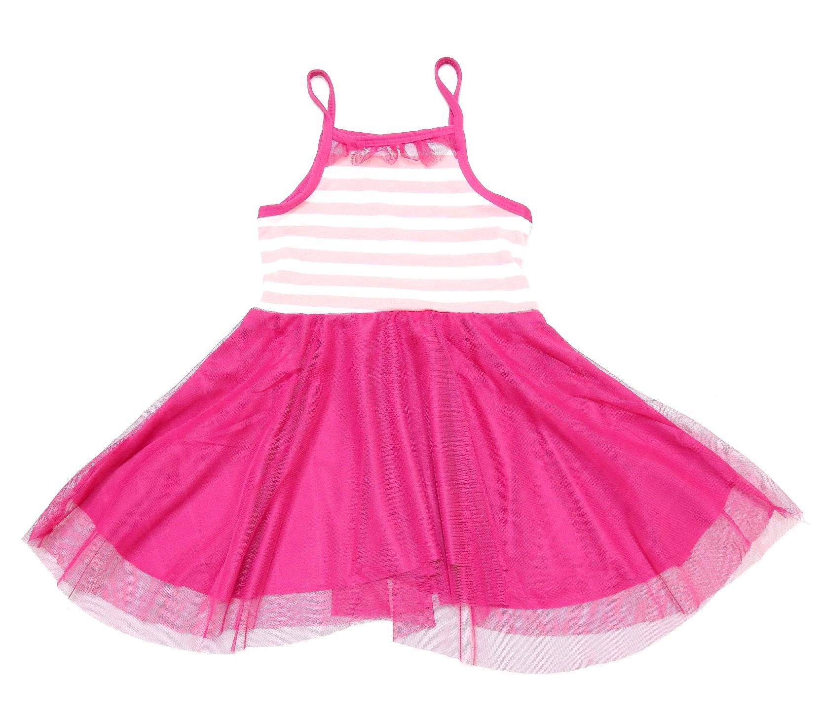 STRIPED TULLE DESIGN DRESS (2-3-4-5-6 AGE)