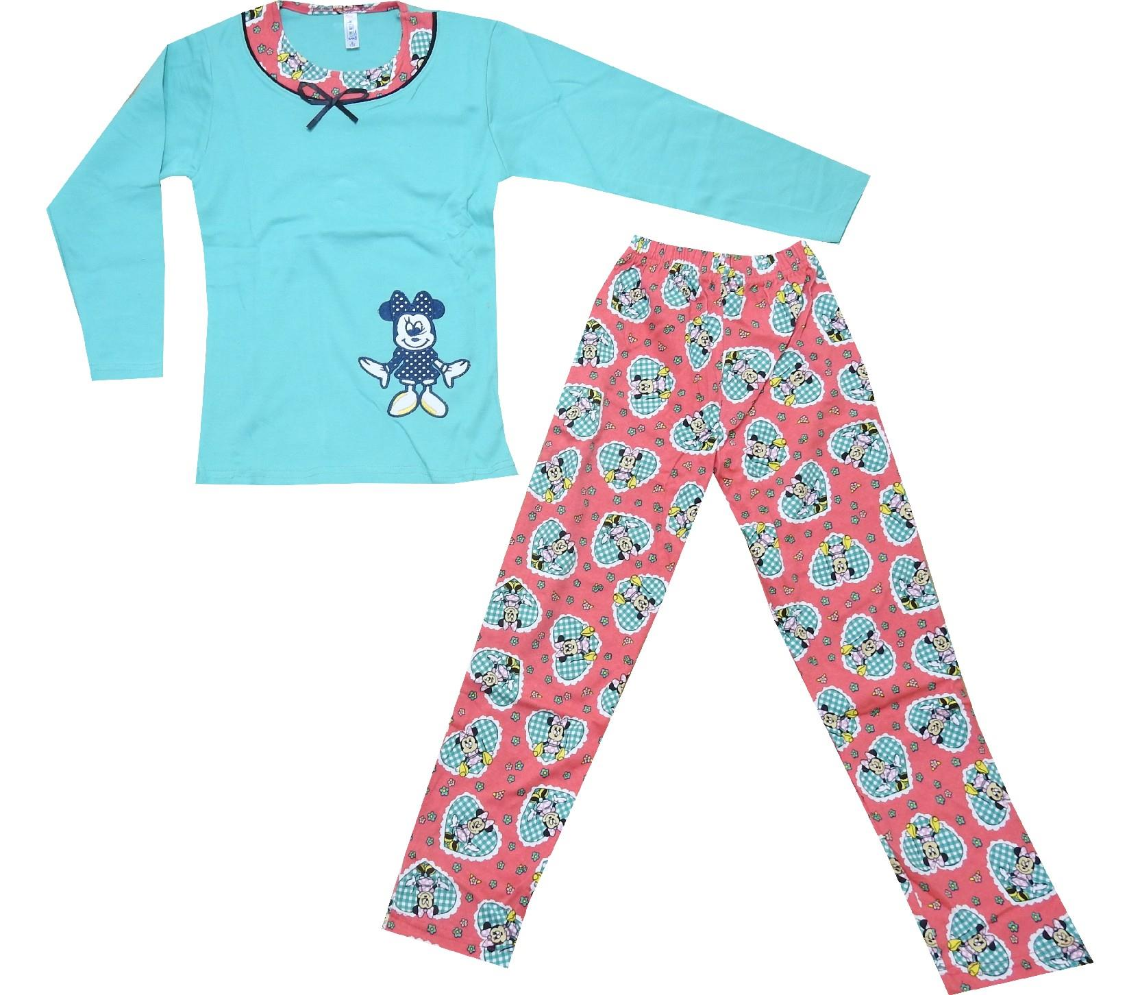 Wholesale printed assorted pyjamas for girls (5-6-7-8 age)