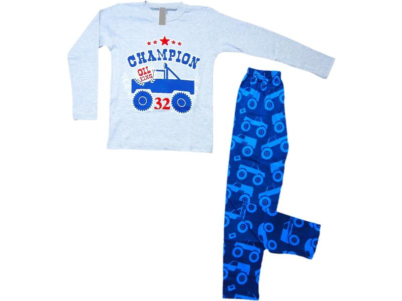 5048 Wholesale champion print pyjama set for boy kids clothes (4-5-6 age)