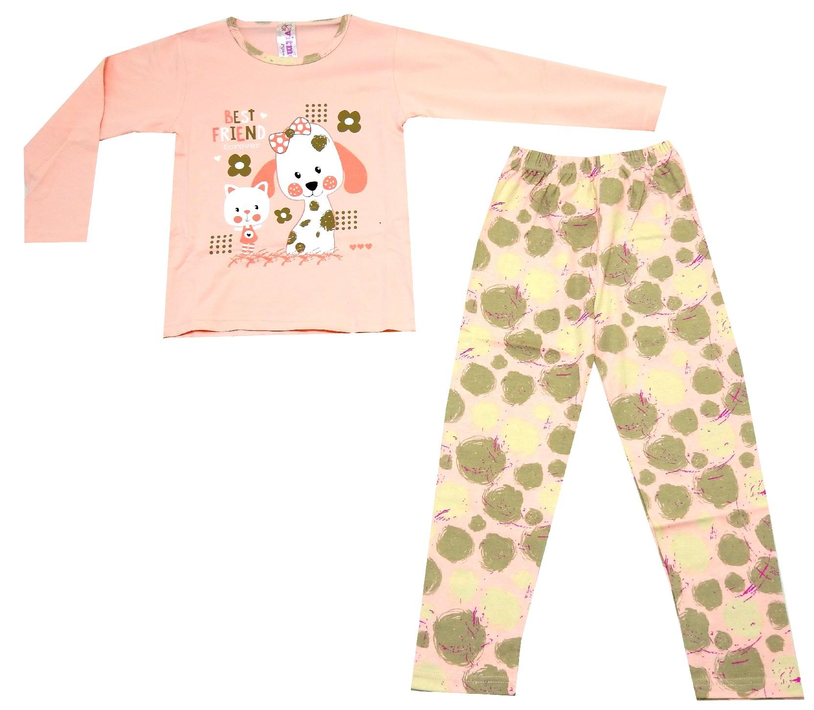 BEST FRIEND DOG & CAT PRINTED DESIGN PYJAMAS FOR GIRL (7-8-9 AGE)