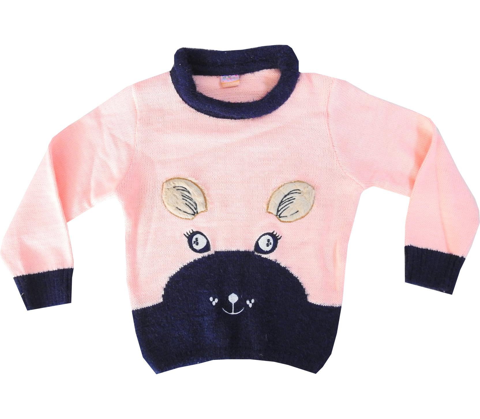CAT FACE PRINTED DESIGN SWEATER FOR GIRL (4-6-8-10 AGE)