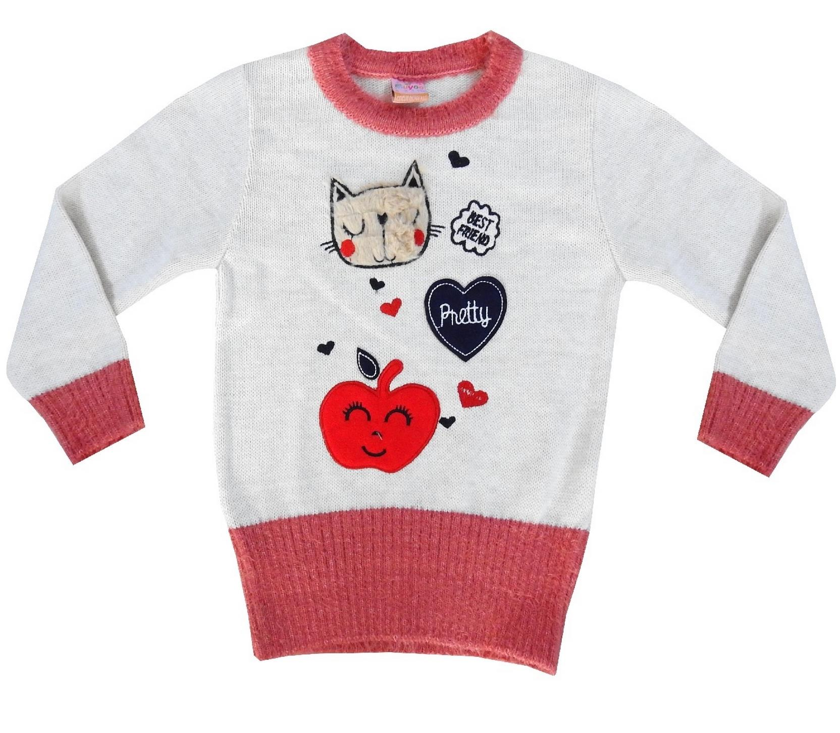 '' BEST FRIEND '' & '' PRETTY '' PRINTED DESIGN SWEATER FOR GIRL (4-6-8-10 AGE)