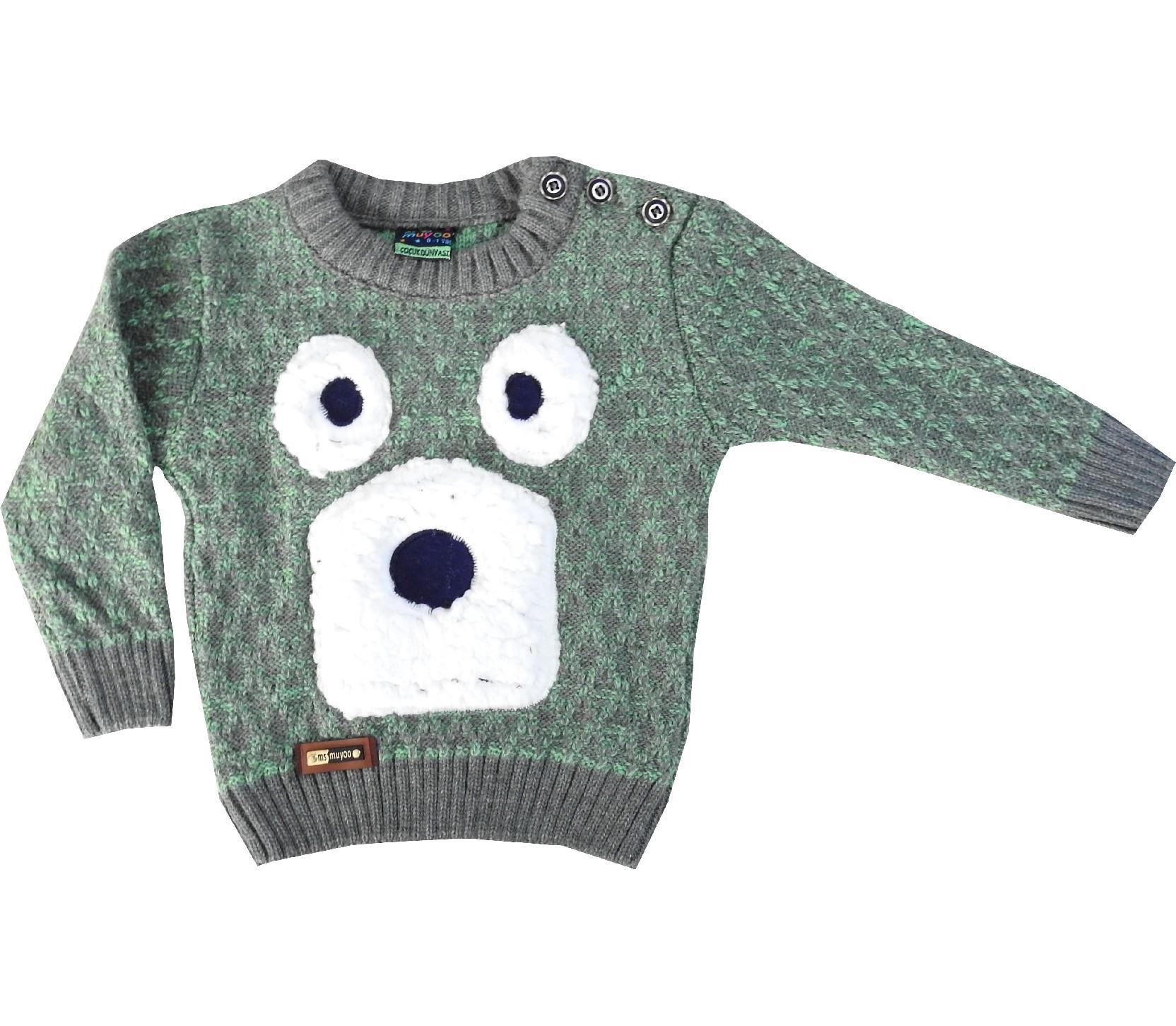 KNITTED DESIGN SWEATER FOR GIRL (1-2-3-4 AGE)