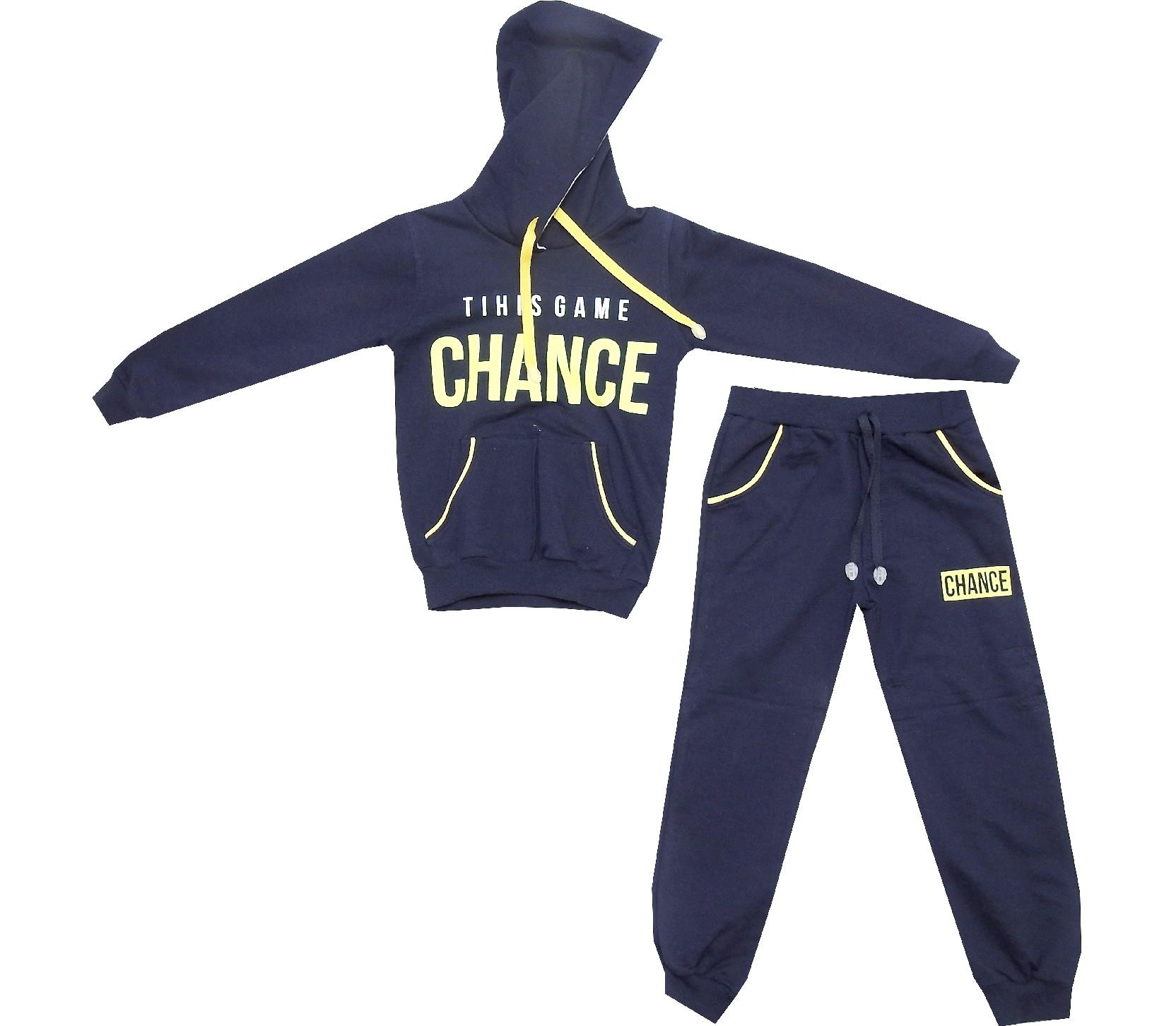 THIS GAME CHANCE PRINTED SWEATSHIRT AND TROUSER DOUBLE SET FOR BOY (5-6-7-8 AGE)