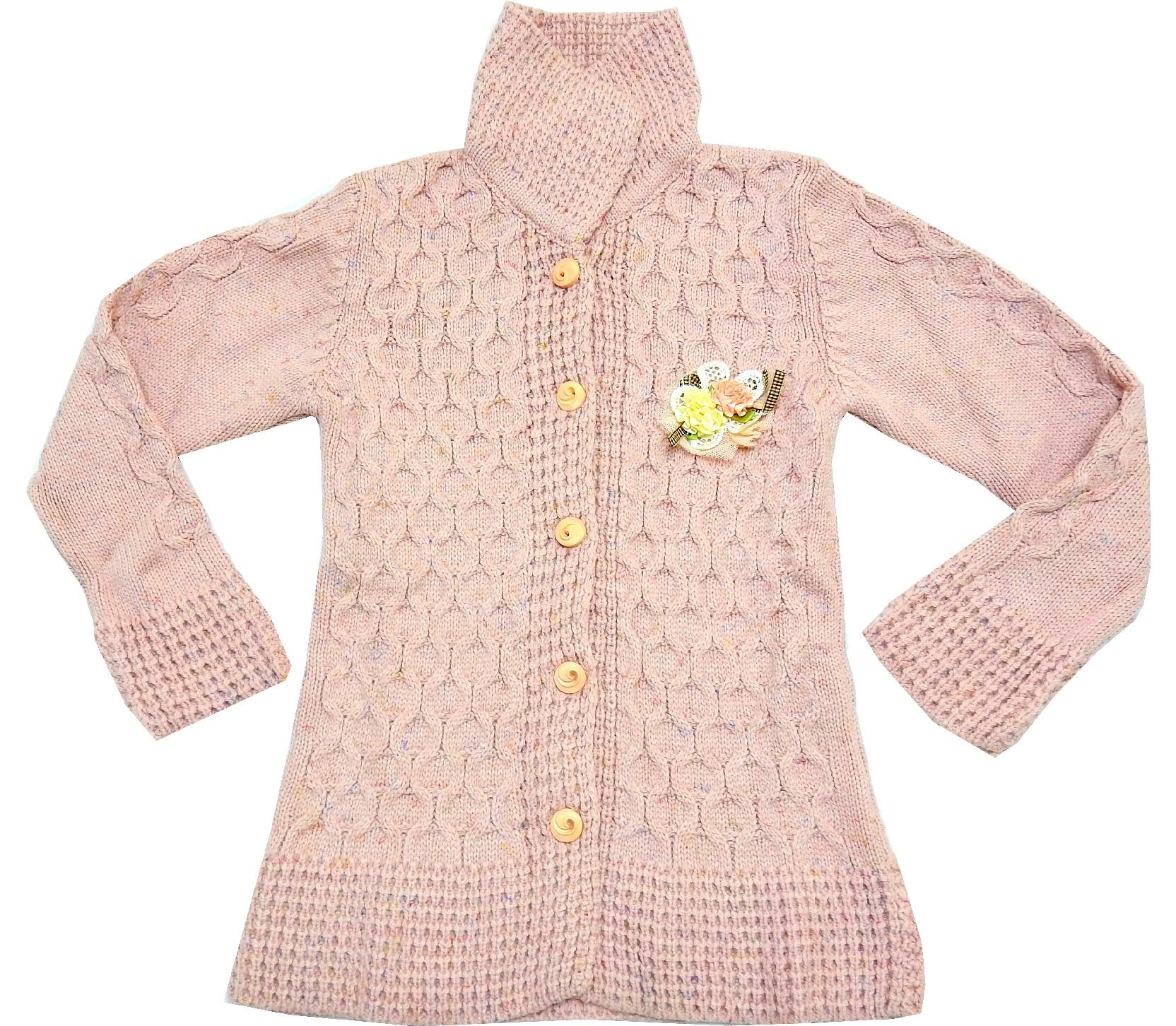 WHOLESALE KNITTED DESIGN CARDIGAN FOR GIRL (5-7-9 AGE)