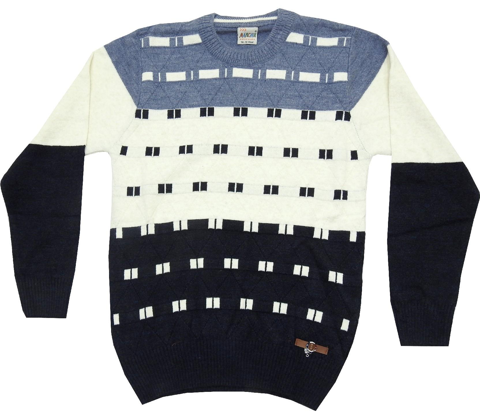 WHOLESALE EMBROIDERY PULLOVER SWEATER FOR BOY (10-12-14 AGE)