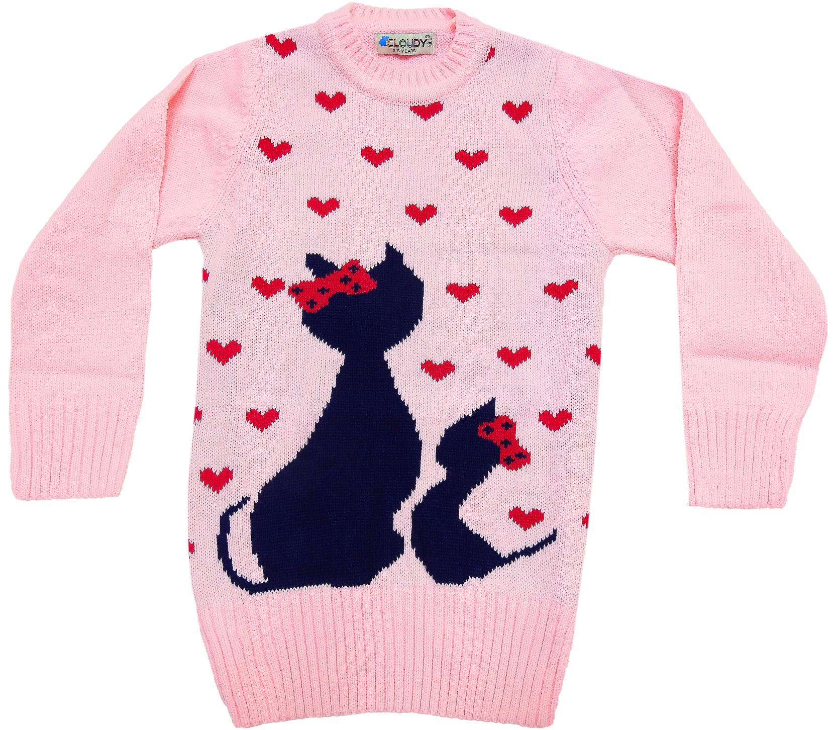 WHOLESALE CAT AND HEATRS PRINT DESIGNED TUNIC FOR GIRL (5-7-9 AGE)