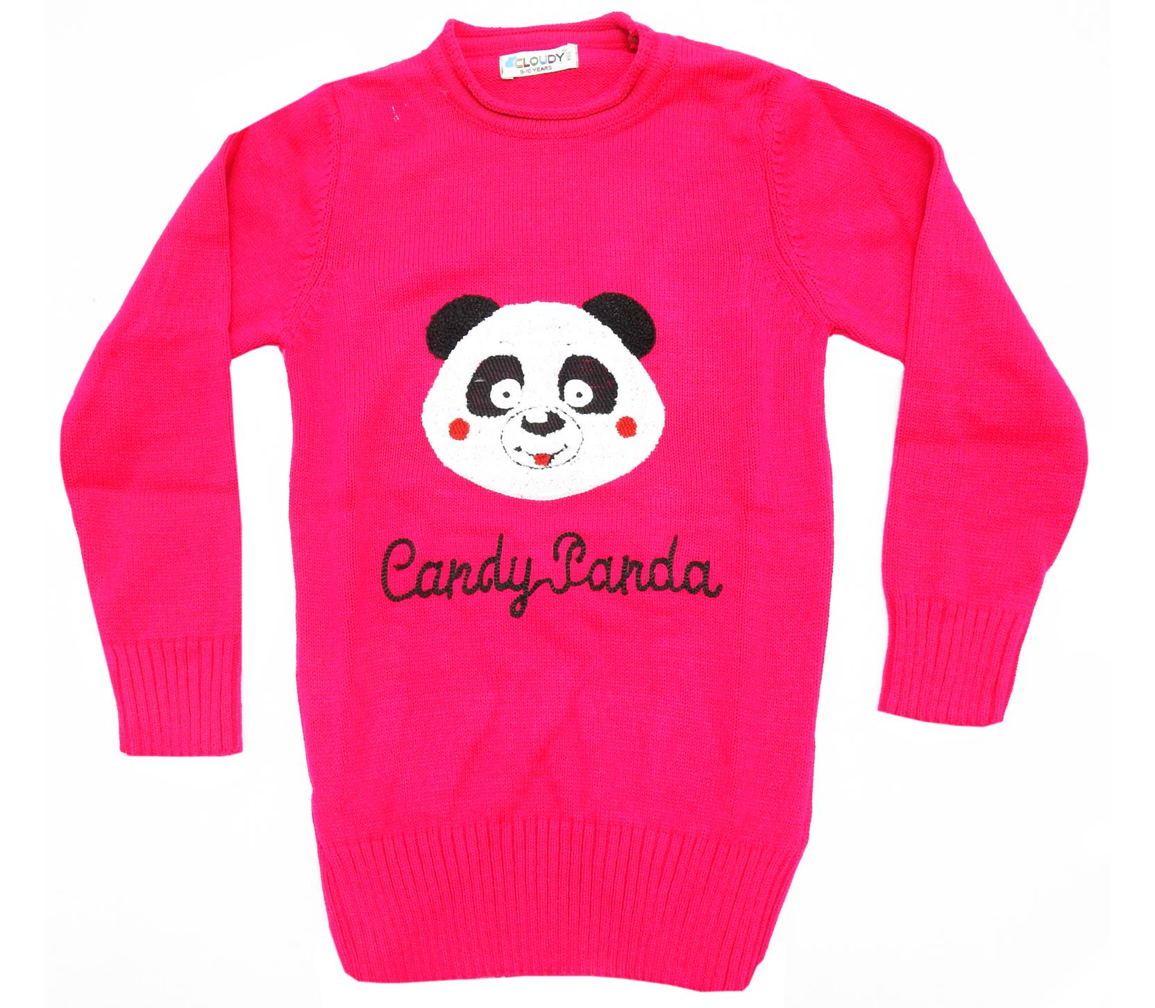 WHOLESALE CANDY PANDA PRINT TUNIC FOR GIRL (5-7-9 AGE)