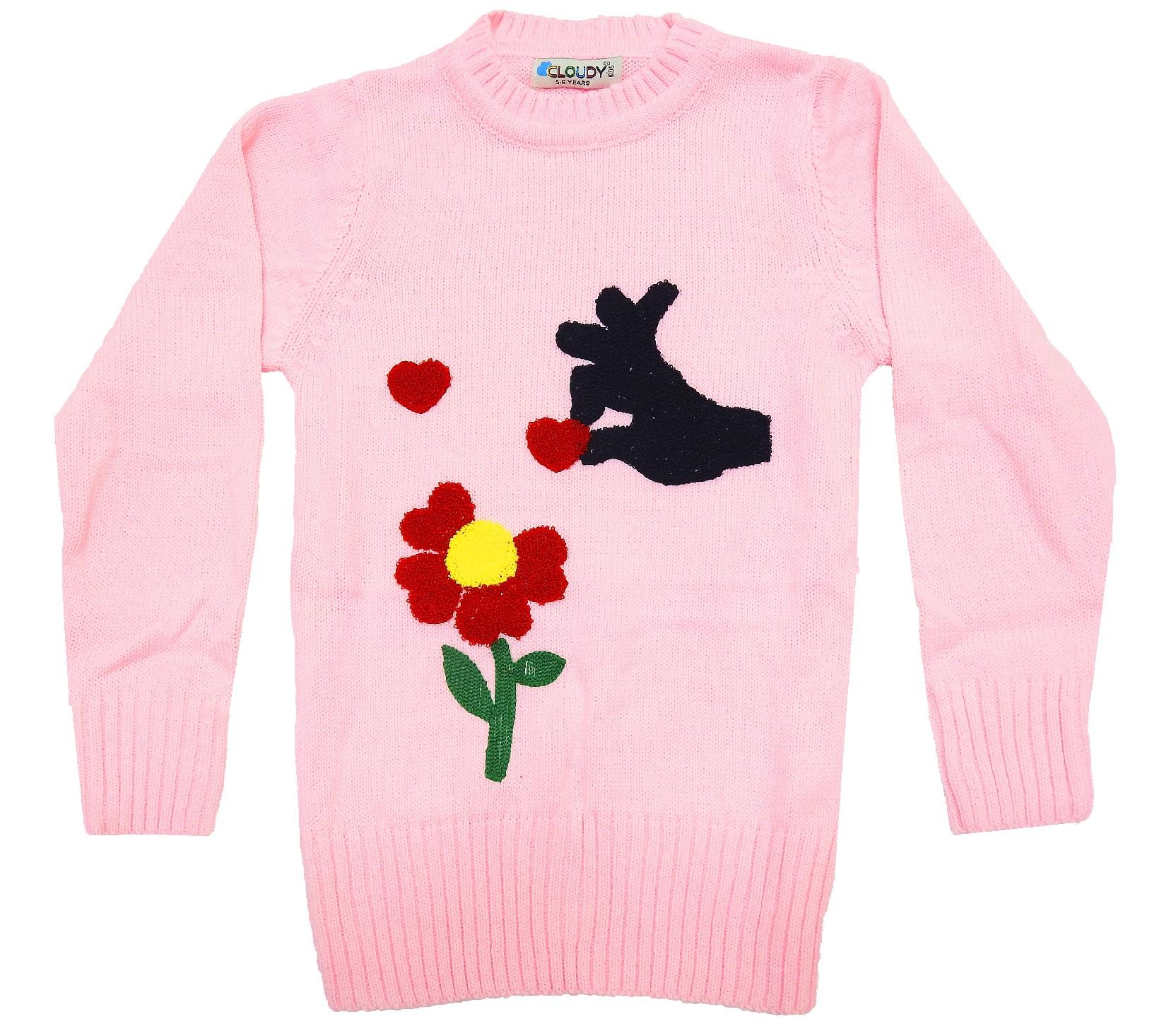 WHOLESALE FLOWER APPLIQUE TUNIC FOR GIRL (5-7-9 AGE)