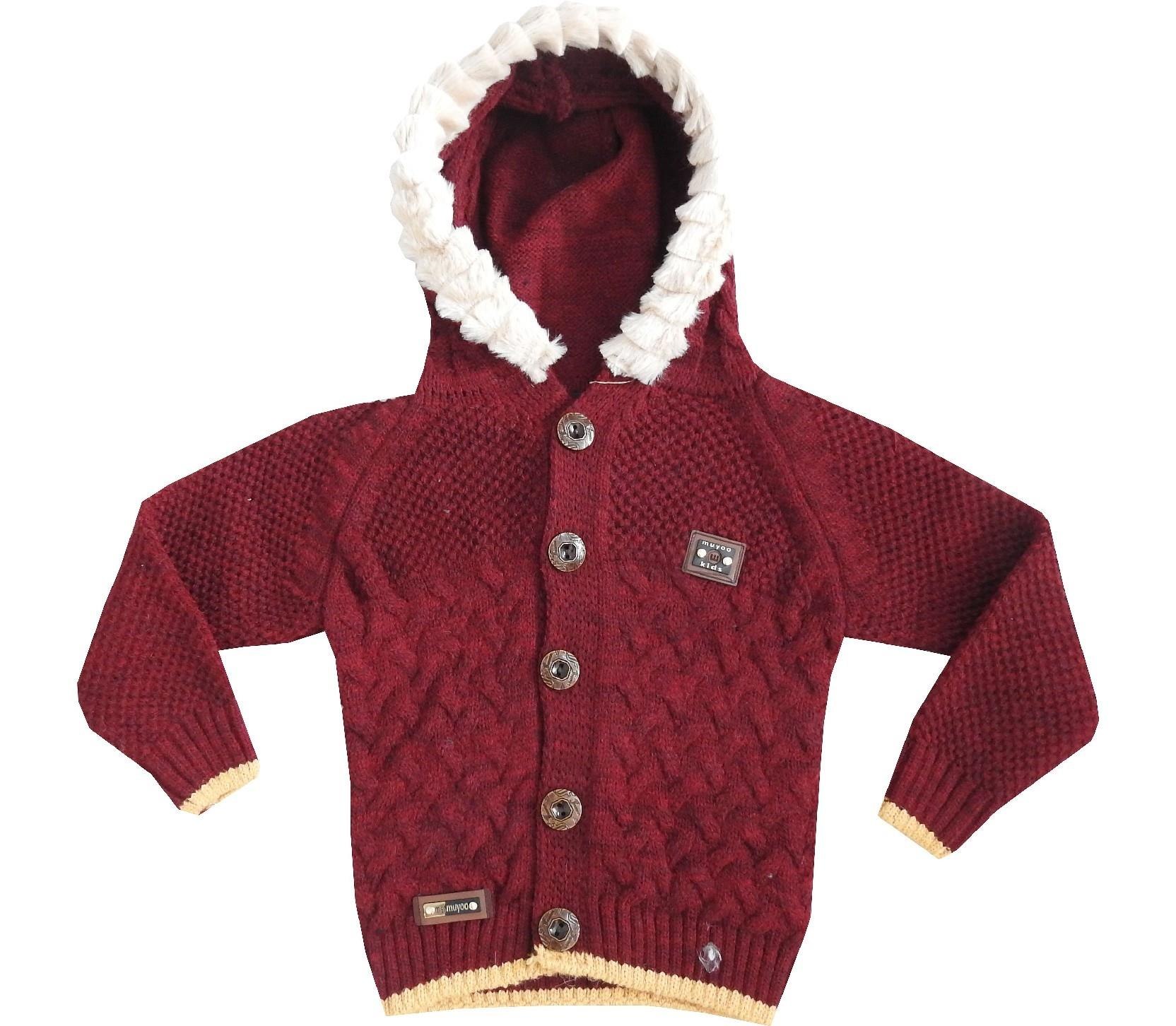 HOODIE KNITTED DESIGN CARDIGAN FOR BOY (1-2-3-4 AGE)