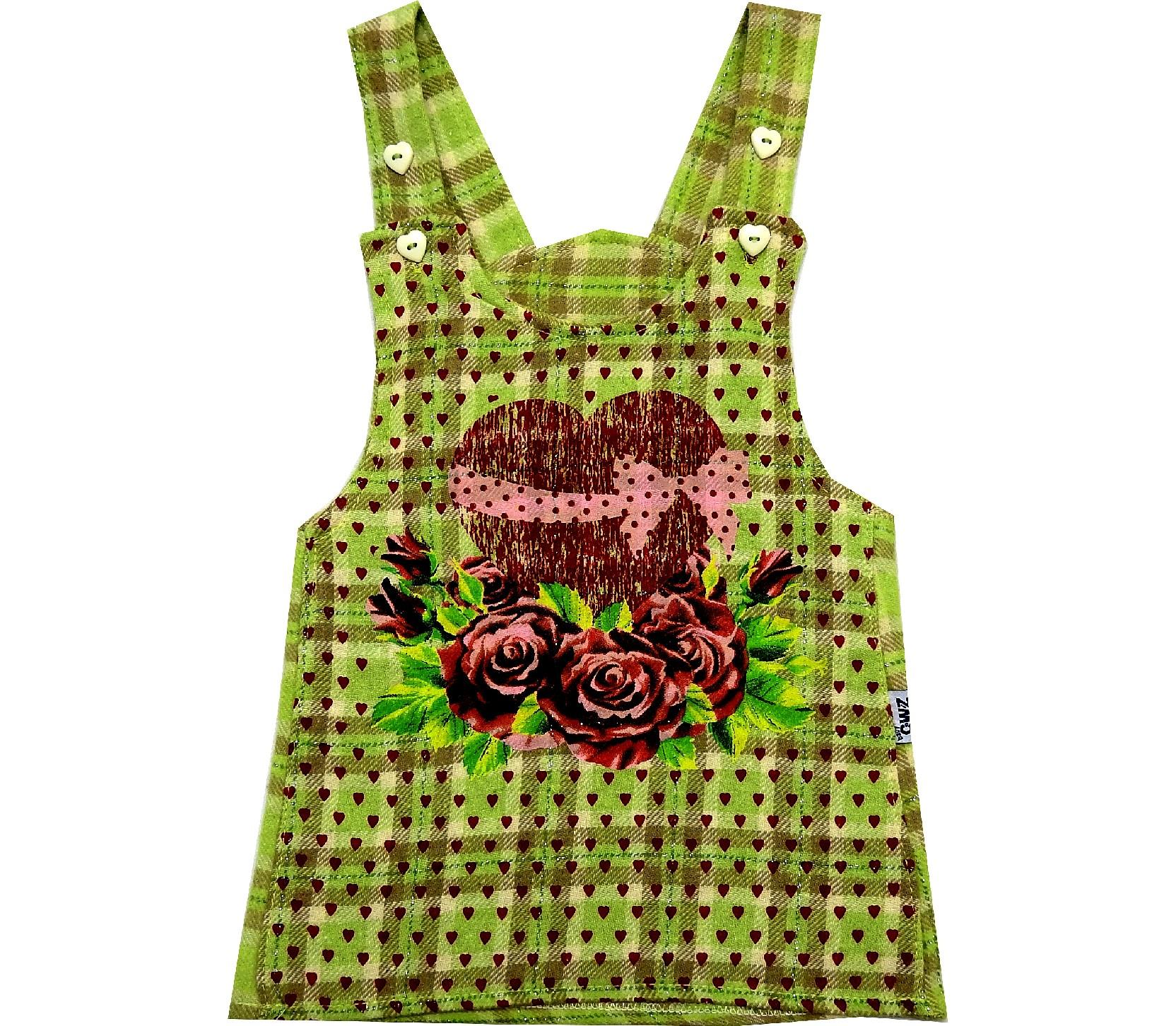 SUSPENDED HEART AND FLOWER EMBROIDERED WAIST FOR GIRL ( 1-2-3-4 AGE)