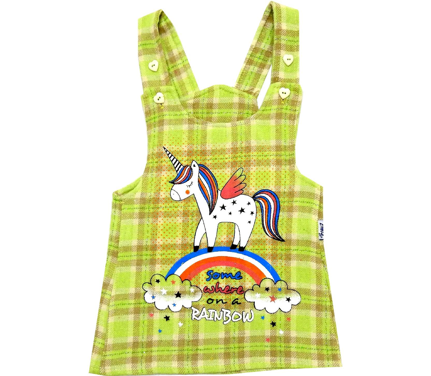 SUSPENDED DESIGNED RAINBOW AND UNICORN PRINTED WAIST FOR GIRL (1-2-3-4 AGE)