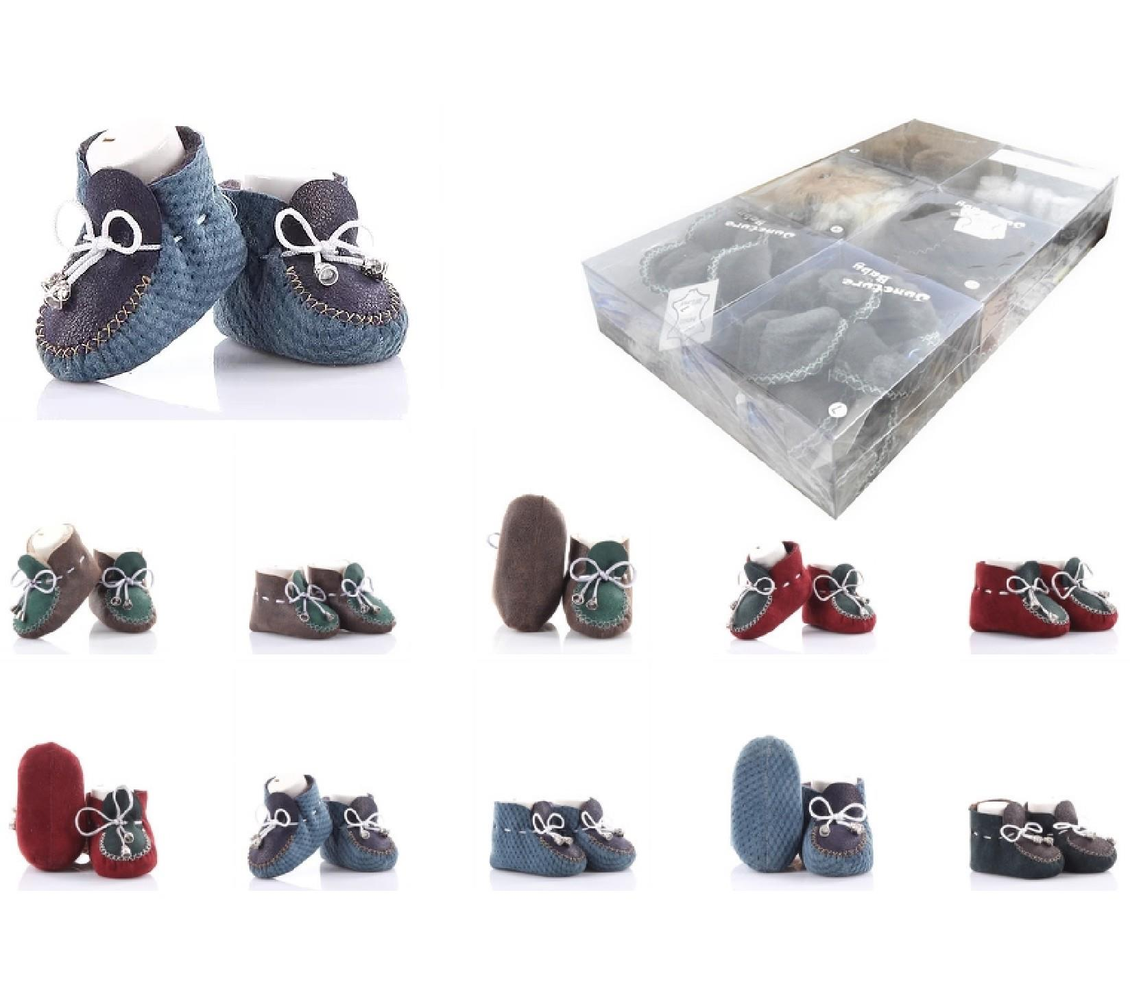 Wholesale leather booties 6 pieces in package