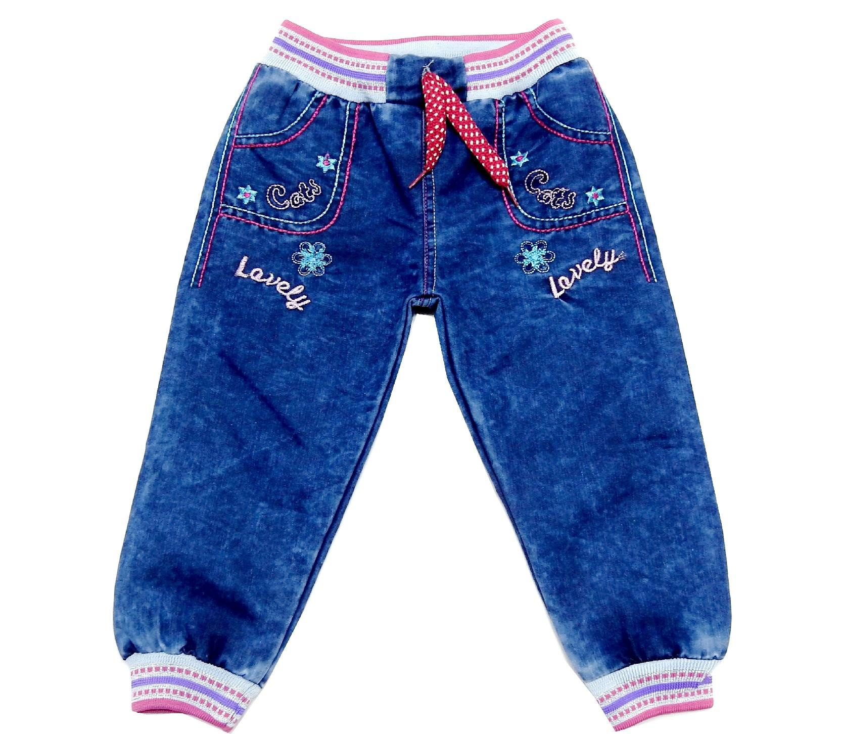 LOVELY CATS PRINTED DESIGN JEANS PANT FOR GIRL (1-2-3-4 AGE)