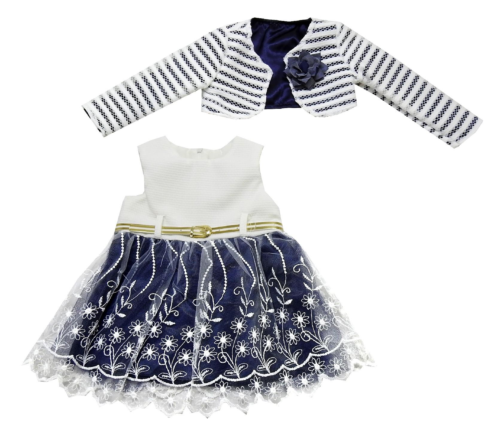 Wholesale bolero and dress double set for girl (1-2-3 age)