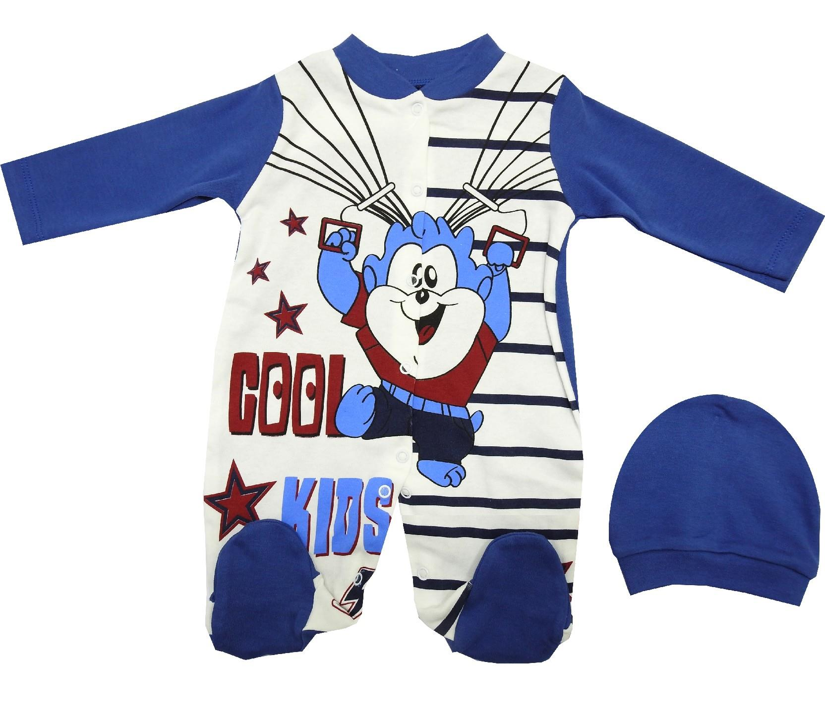 WHOLESALE COOL KIDS PRINTED BODYSUIT FOR BOY (3-6-9 MONTH)