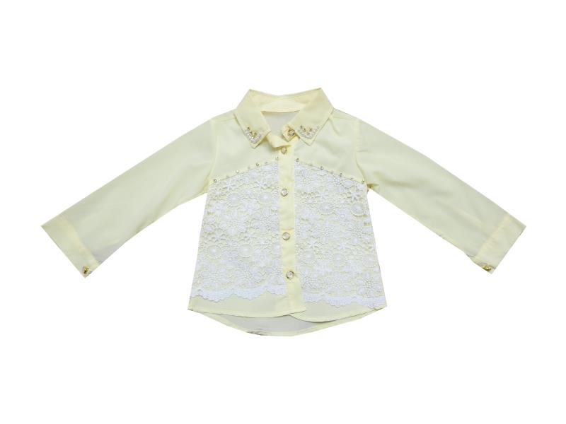 Wholesale lace fabric embroidery shirt for girl (2-3-4-5 age)