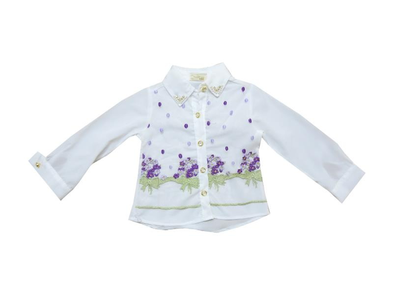 Wholesale flower embroidery shirt for girl (2-3-4-5 age)