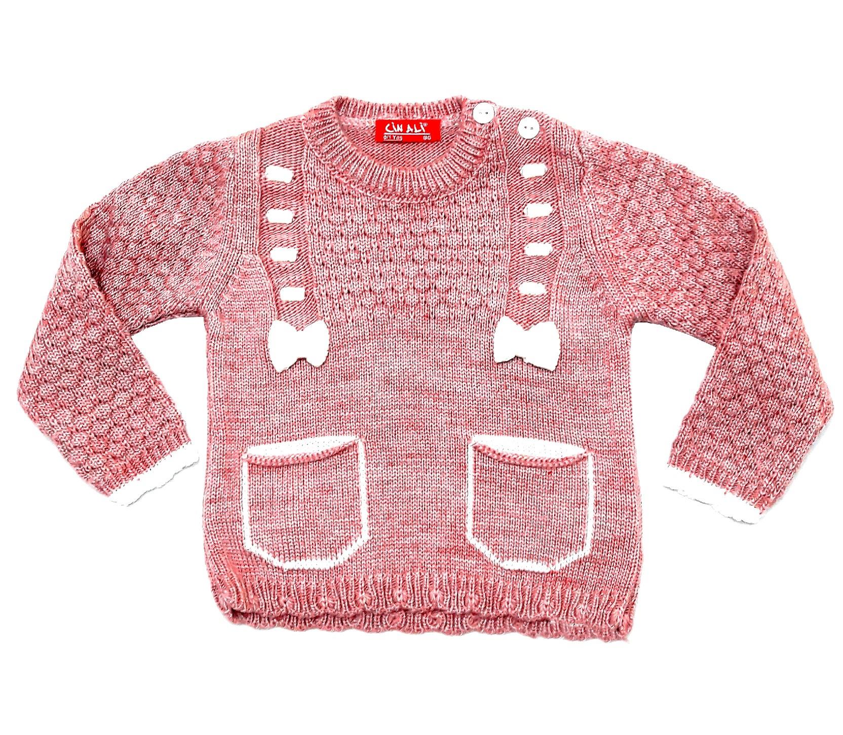 WHOLESALE KNITTED DESIGN SWEATER FOR GIRL (1-2-3 AGE)