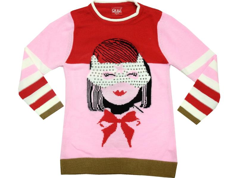 WHOLESALE GIRL PRINTED DESIGN SWEATER FOR GIRL (4-6-8-10 AGE)