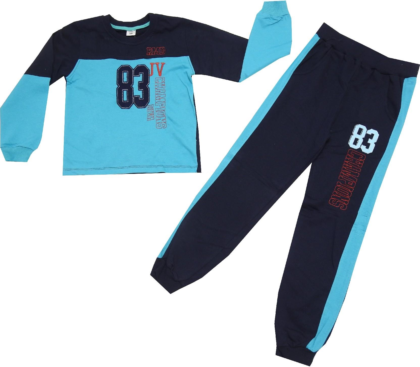 WHOLESALE 83 PRINTED DESIGN SWEATSHIRT AND TROUSER DOUBLE SET FOR BOY (5-6-7-8 AGE)