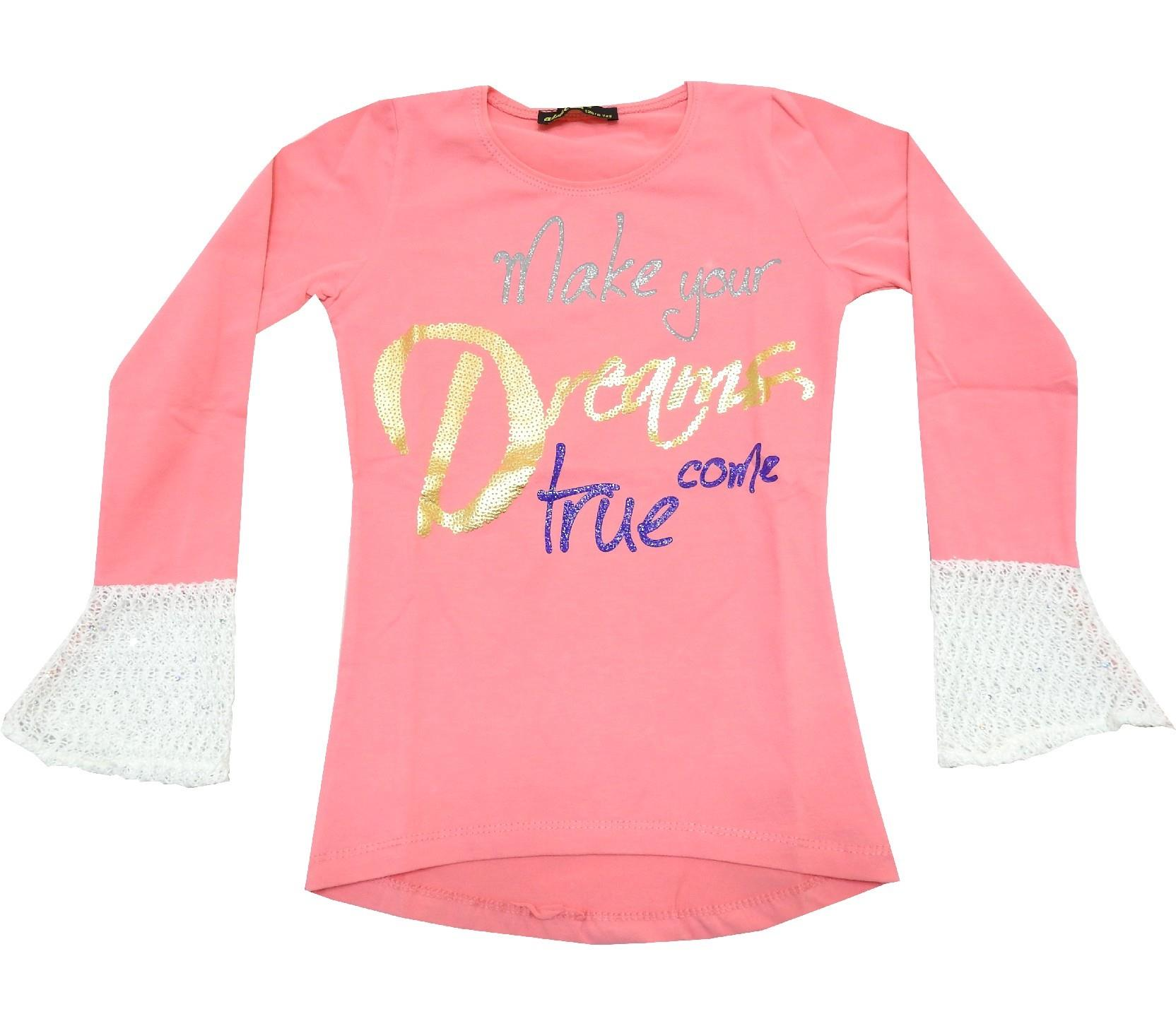 WHOLESALE LONG FLARED SLEEVE LETTERS PRINTED T-SHIRT FOR GIRL (9-10-11-12 AGE)