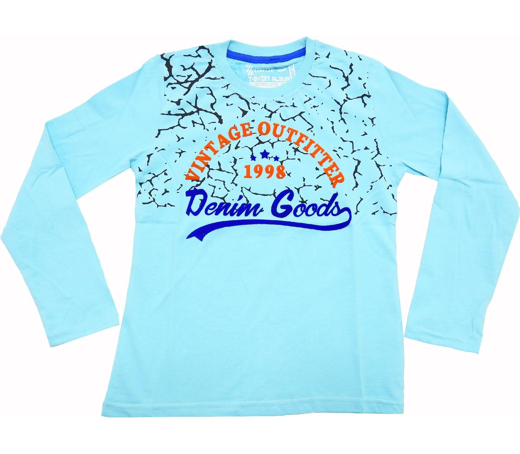 WHOLESALE 1998 DENIM GOODS PRINTED T-SHIRT FOR BOY (9-10-11-12 AGE)