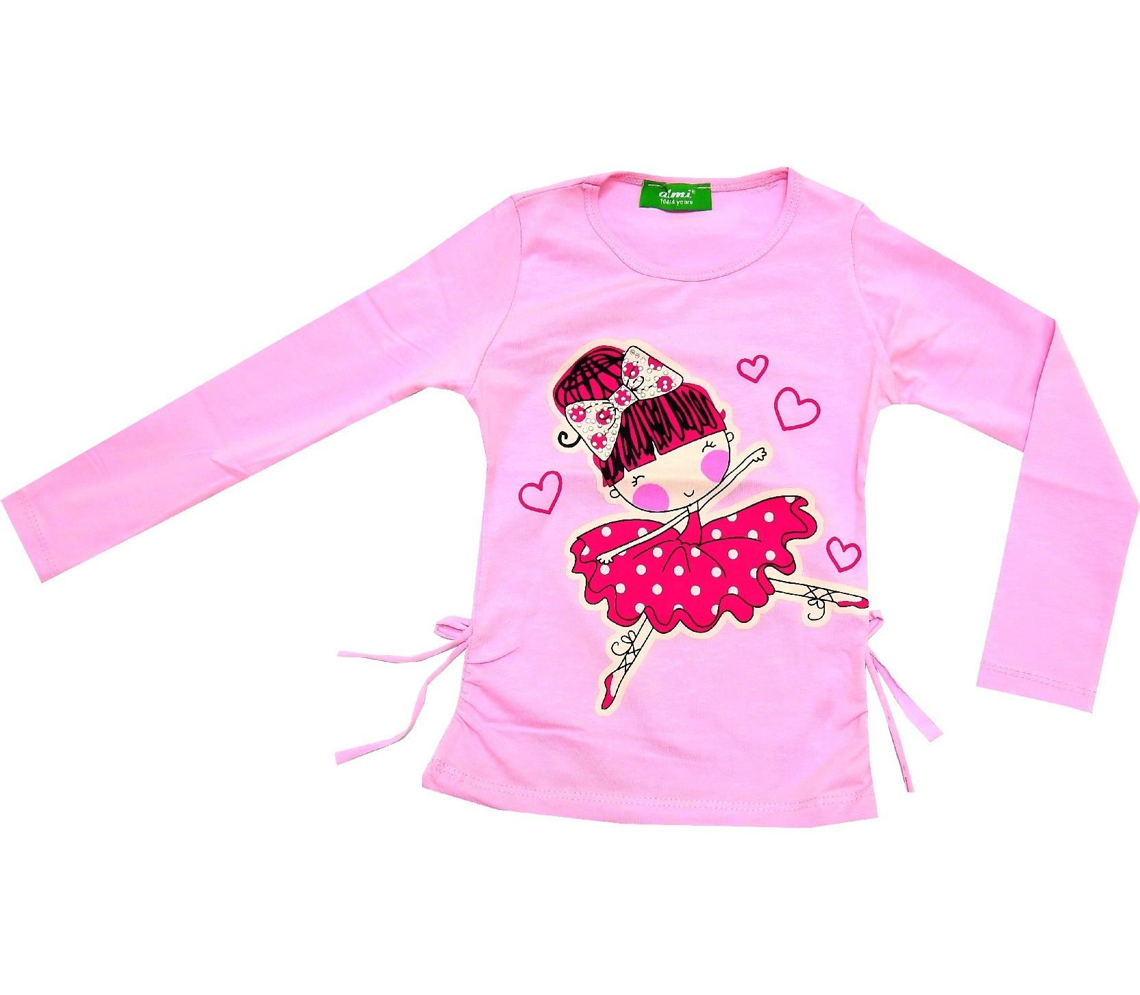 WHOLESALE BALERINA GIRL PRINTED TUNIC FOR GIRL (1-2-3-4 AGE)