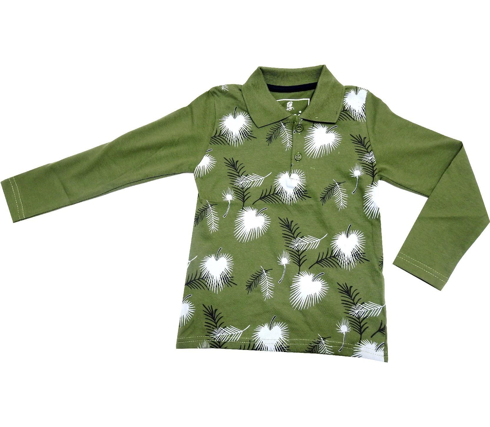 WHOLESALE LEAF AND FEATHER EMBROIDERED DESIGN T-SHIRT POLO FOR BOY (9-10-11-12 AGE)