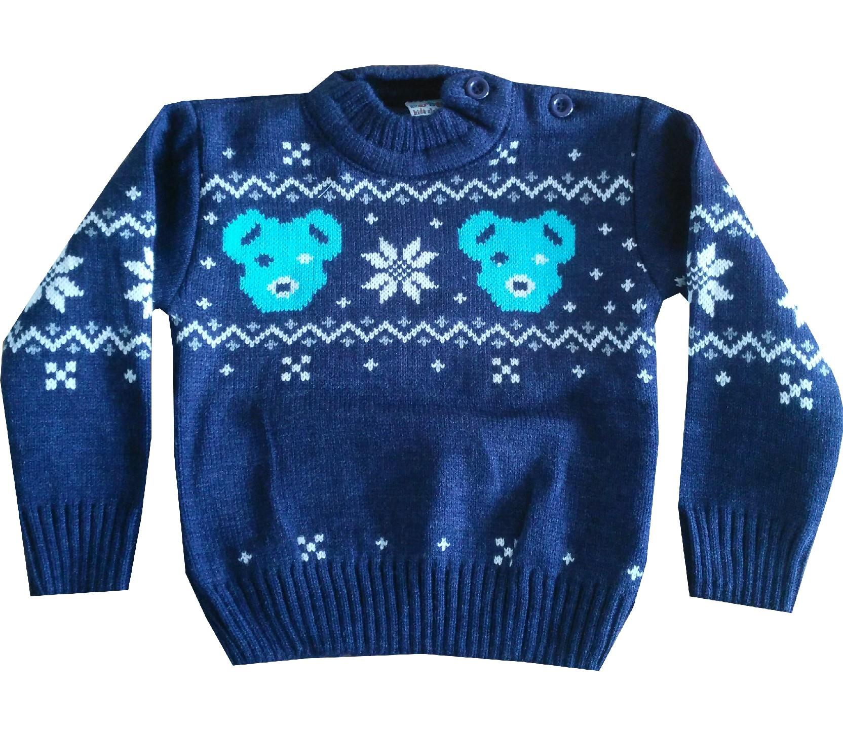Wholesale bear print sweater for boy (1-2-3 age)