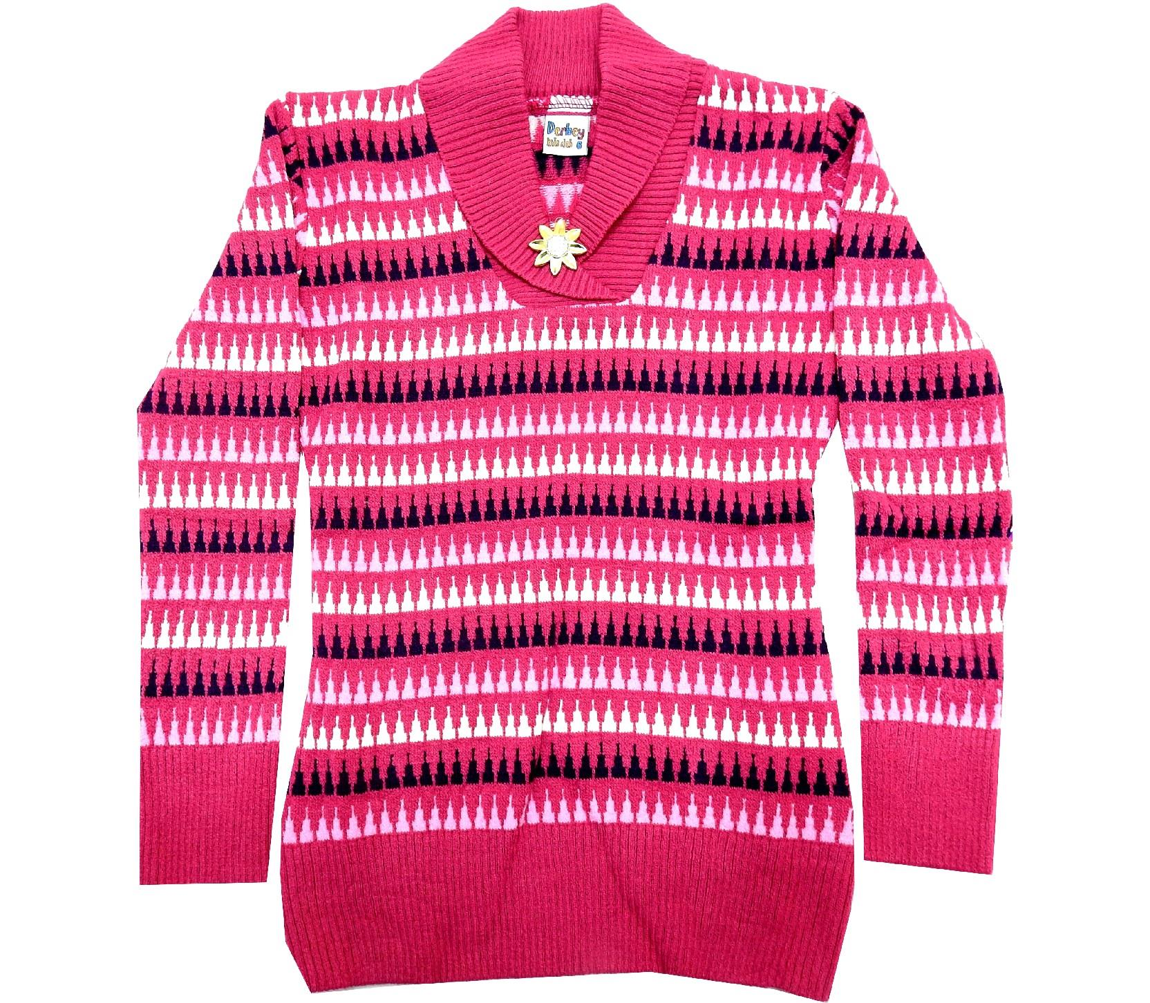 WHOLESALE STRIPED SWEATER TUNIC FOR GIRL (10-12 AGE)