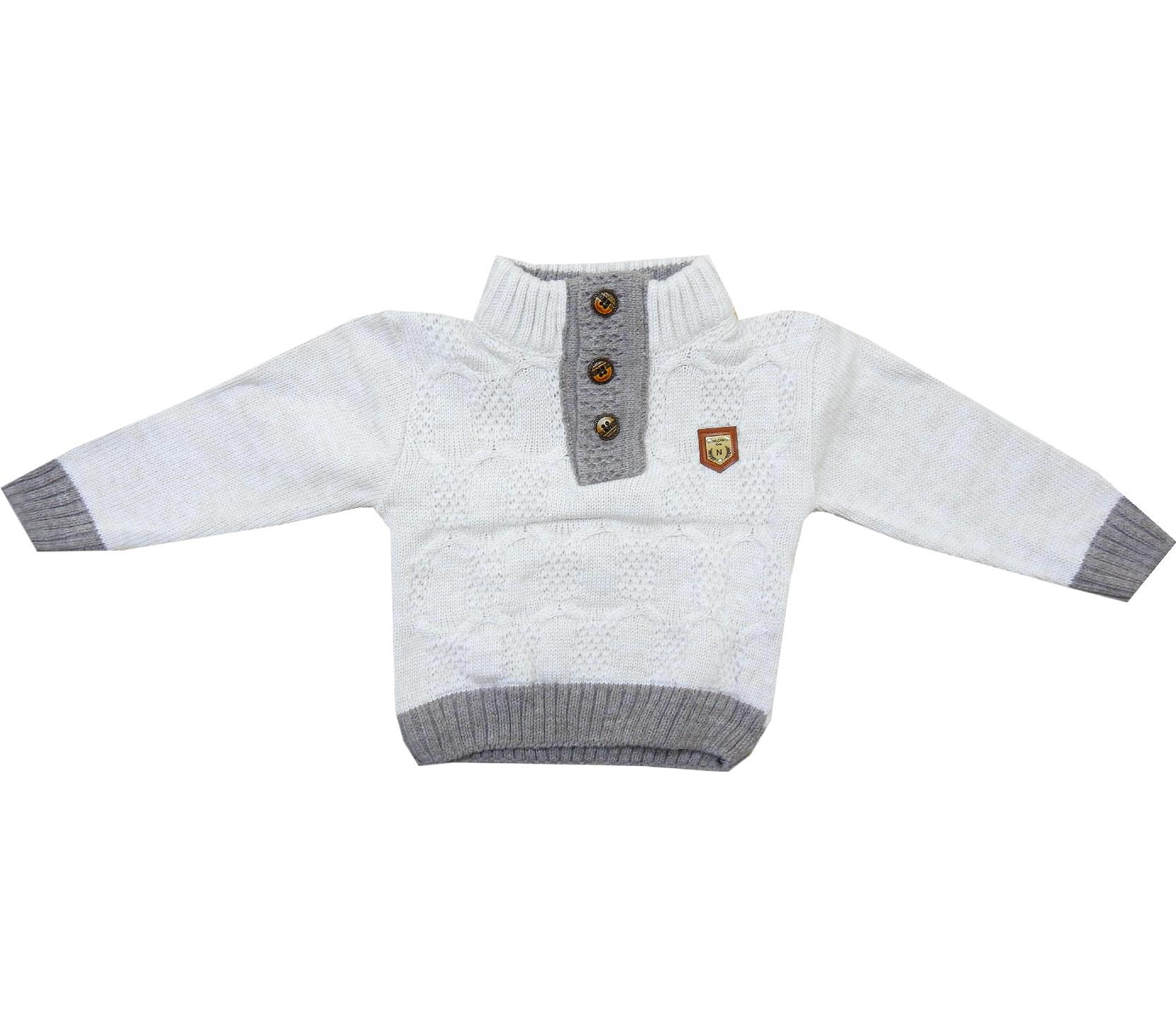Wholesale zip fastening sweater for boy (1-2-3 age)