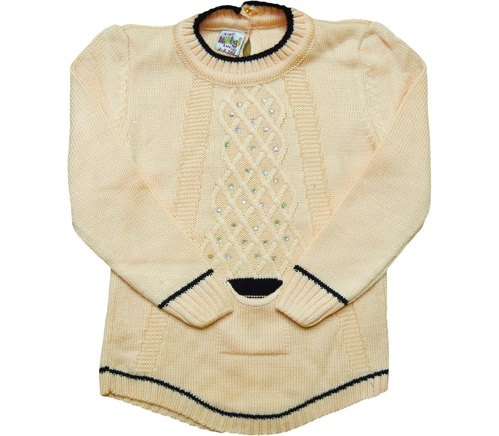 206 Sweater trico for girl babies  1-2-3 age