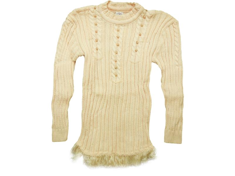 401  pearl stone detailed sweater for girl babies  4-6-8 age