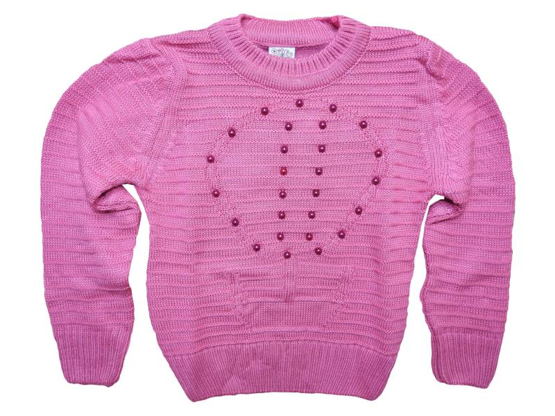 402 solitaire detailed sweater for girl babies  4-6-8 age